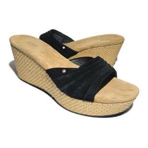 Ugg 3100 Alvina Wedge Sandals Slides Size 7.5